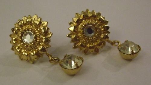 Vintage Earrings Sunflower