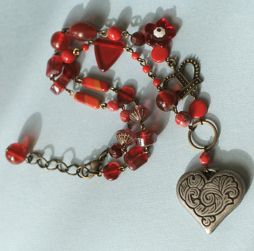 Queen of Hearts Jumble necklace