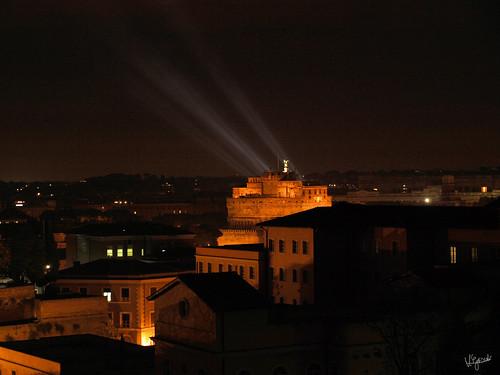 Engelsburg bei Nacht