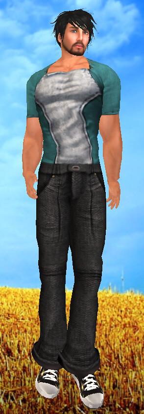 DeeTalez Tweed Pants Grey Gryphonwings Rough Hewn Shirt