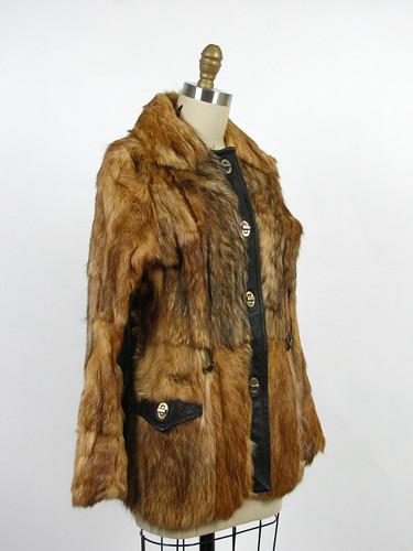 vintage 70s faux fox fur