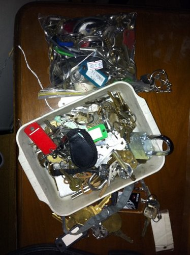 Keys of a hoarder