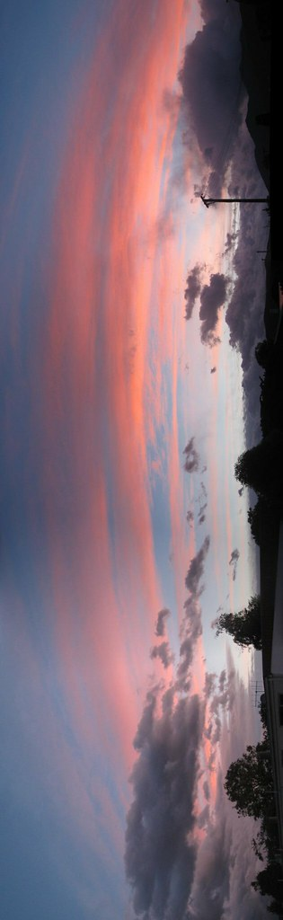 Te Anau sunset panorama