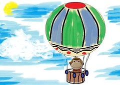 Sago Flies Hot-Air Balloon