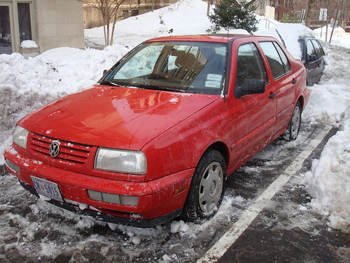 snowed in Jetta