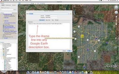 Google Earth iframe shots