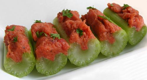 Filet Americain on Celery