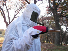 Whooping Crane - costumed handler