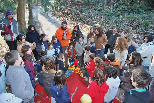 Celebració del Nadal, 19 de desembre de 2009, a Sant Medir -  gran tió