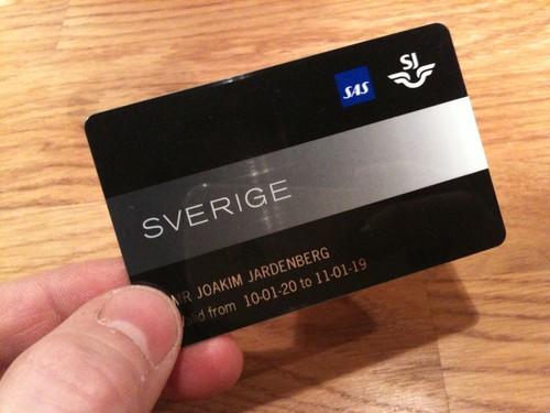 Sverigekortet, både SJ och SAS på samma kort