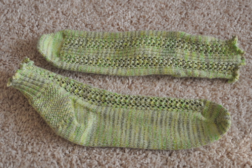 Summer Limeade socks.