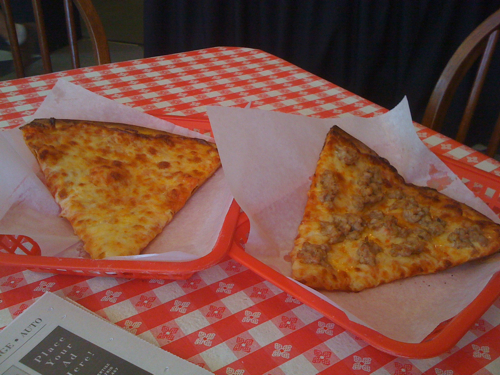 Two slices from High Point Pizza, Memphis, Tenn.