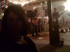 Esther with great Flamenco band playing at a friends party