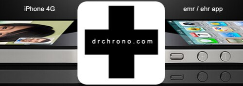 iPhone 4G EHR drchrono logo