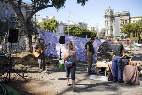 music at Hayes Valley Farm, SF