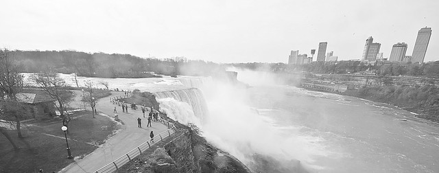 The US version of journey behind the falls also gets you closer to the falls...