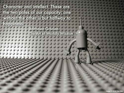 Wednesday Wisdom: Character and intellect