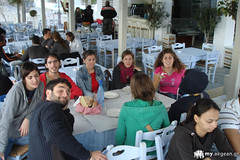 lunch time and talks 1 - Syros walks