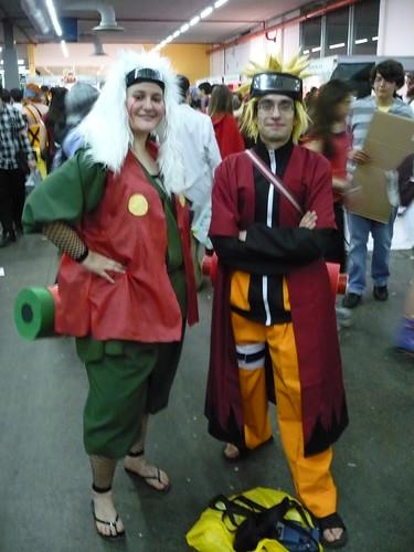 Jiraiya y Naruto