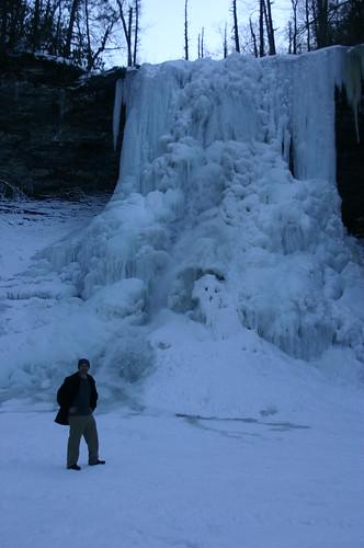 Cascades 2010 - Ryan with Falls (Portrait)