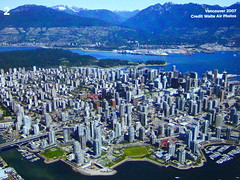 AERIAL VIEW OF VANCOUVER BY WATER AIR PHOTOS