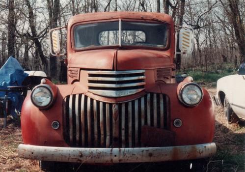 Photo of 1947 Chevy pickup.