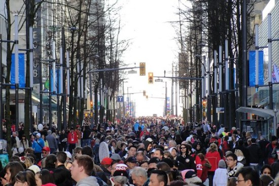 Thousands take to the streets in Vancouver