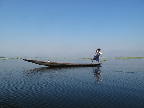 Inle Lake fisherman Burma