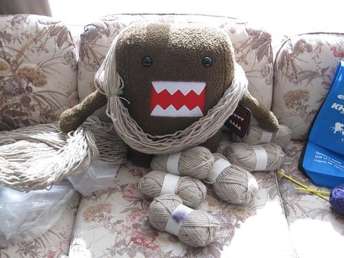 Domo-kun yarn heaven!