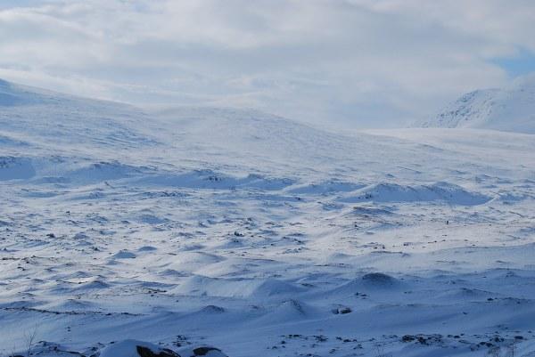 Dunas de nieve en Laponia