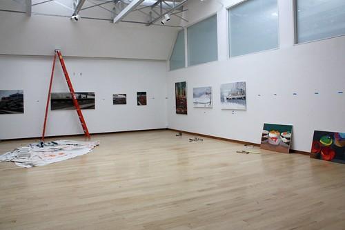"Installing ""350: Student Exhibition"""