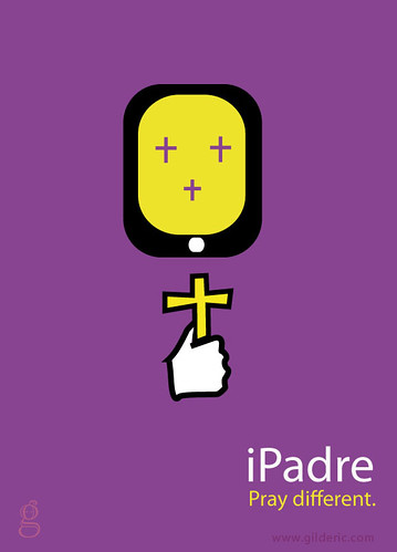 IPadre. Pray Different (vector version)