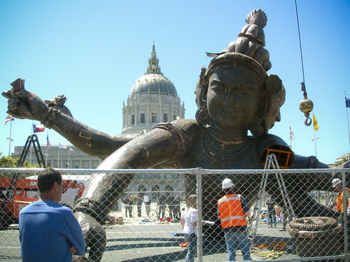 three head six arm buddha in San Francisco