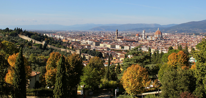 View from Florence from Monte alle Croci