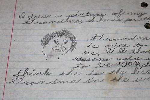 Elementary School - Lib Turnock is my Grandma - Close Up of Picture