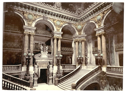 [Building interior with staircase, unidentified location] (LOC)