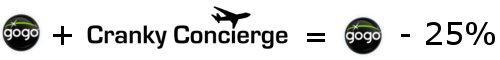 Cranky Concierge Clients Get 25% Off Inflight Internet