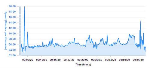 100314 Bareno Run - Pace Summary