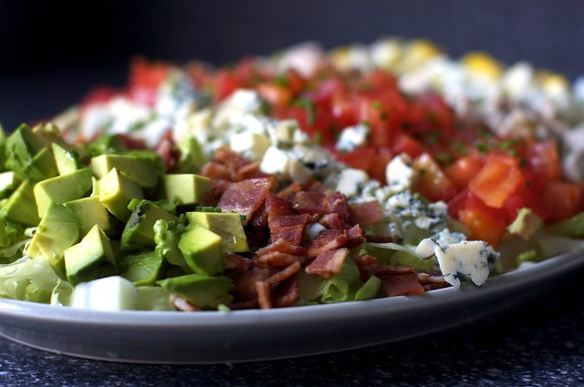 avocado, bacon and blue cheese