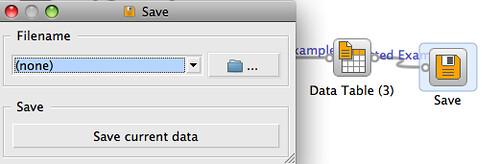 Orange - save data