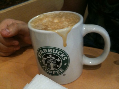 Latte Machiatto en Starbucks Diagonal