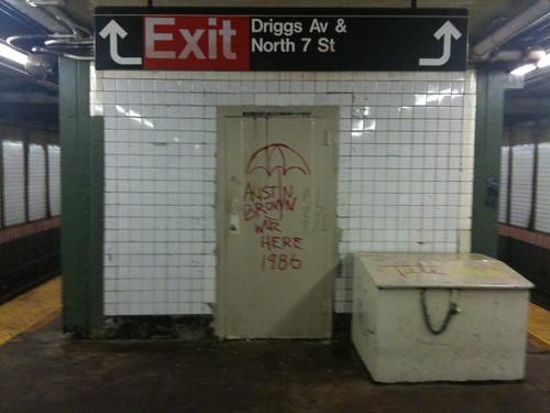 Back-dated graffiti