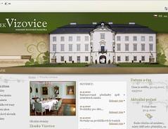 Nový web státního zámku ve Vizovicích