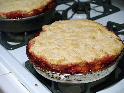 Strawberry Apricot Cobbler