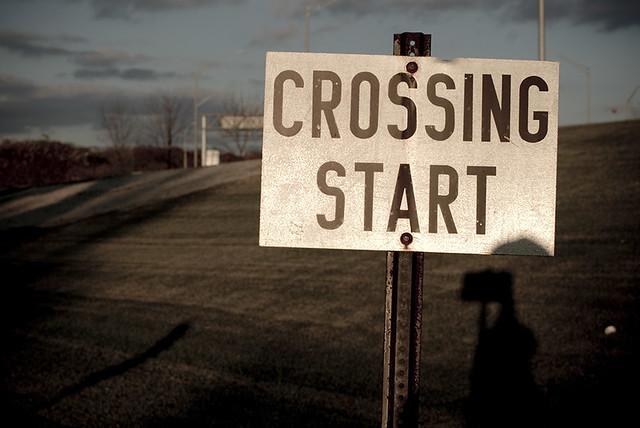 Post-apocalyptic crossing.