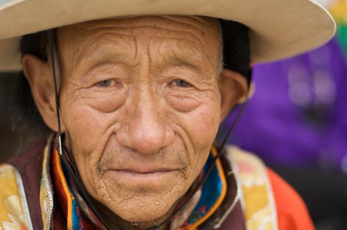 A Portrait of a man in Tibet