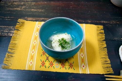 炊き合わせ シルユーの蒸し煮、カリフラワーのあんかけ