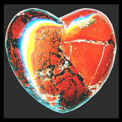 hearts' empath ♥ brick-red ♥ brecciated jasper...