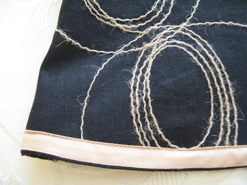 A-line skirt - hem binding detail