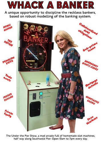 Whack A Banker by Tim Hunkin with Joanna Lumley